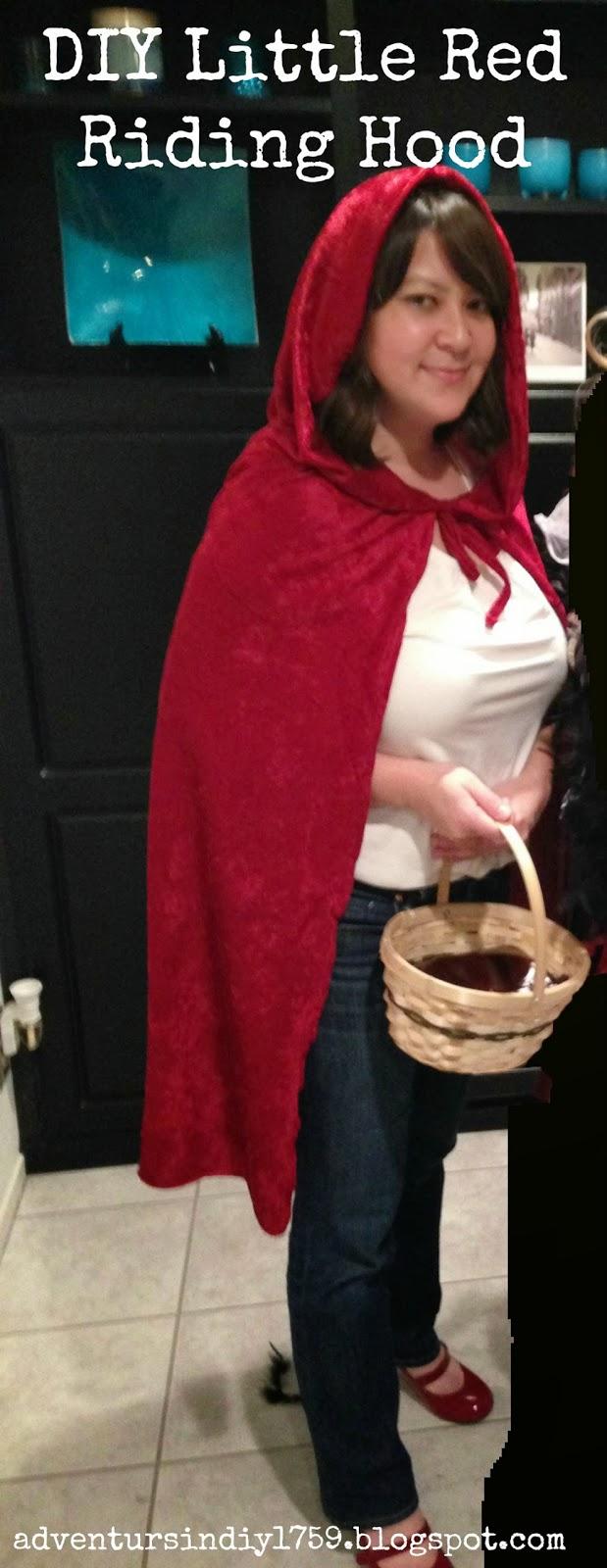 Adventures In Diy Diy Little Red Riding Hood Costume