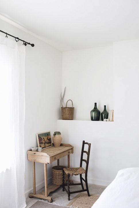 Color blanco y ambiente rustico