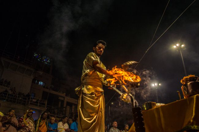 Ganga Aarti at Dashaswmedh Ghat