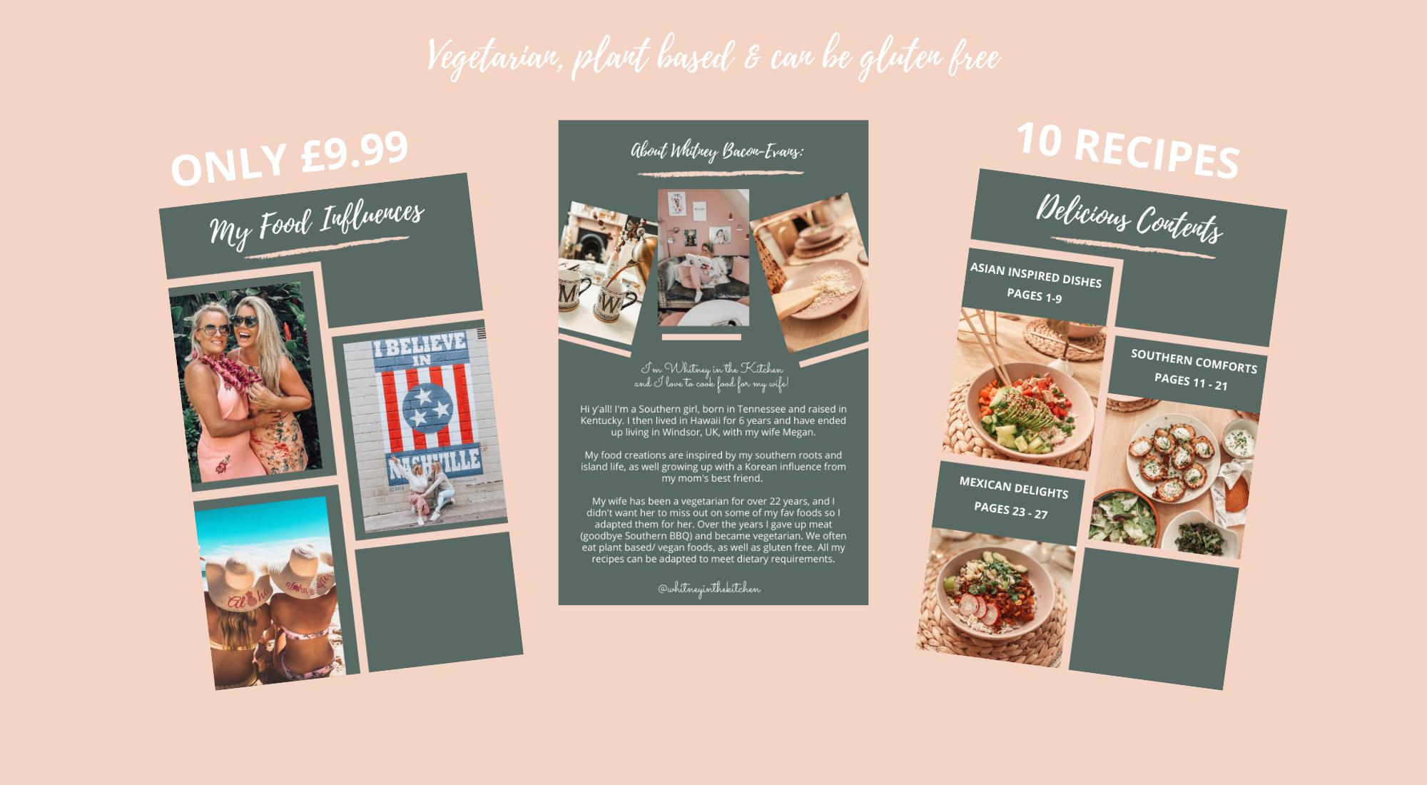 vegetarian, vegan and gluten free recipe cookbook