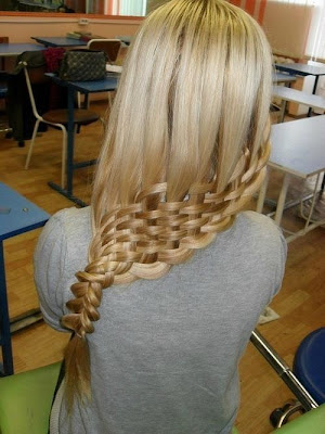 basket woven side braid