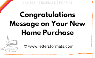 congratulations message on buying a new home