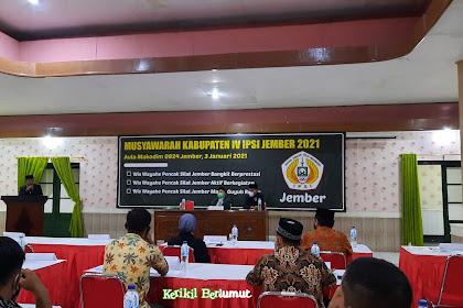 Agus Supa'at Terpilih Menjadi Ketua IPSI Jember 2021-2025 Dalam Musyawarah Kabupaten IPSI Jember
