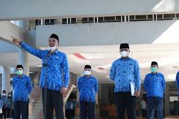 Djufri Muhamad Pimpin Upacara Tanggal 17 Bulan Berjalan di Pemkab Halbar