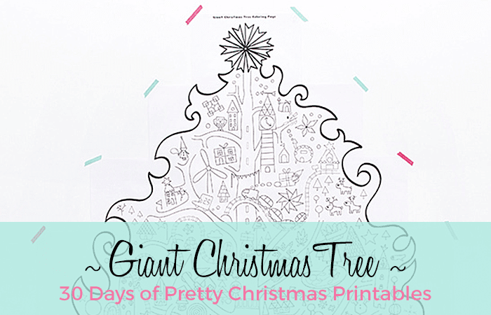 Giant Christmas Tree Coloring Printable