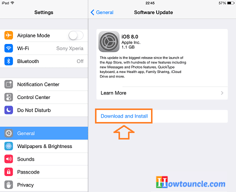 Download and install iOS 8, install iOS 8 on iPhone, install iOS 8 on iPad