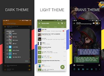 Aplikasi BBM Mod Android Delta v 2.13.1.14 Release Terbaru Changelog v3.5.5