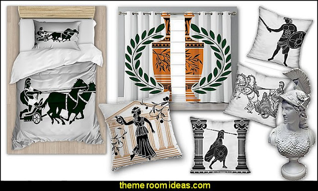 greek roman decor  mythology theme bedrooms - greek theme room - roman theme rooms - angelic heavenly realm theme decorating ideas - Greek Mythology Decorations -  angel wall lights - angel wings decor - angel theme bedroom ideas - greek mythology decorating ideas - Ancient Greek Corinthian Column - Spartan Warrior Gladiators - Greek gods - Angel themed baby room - angel decor - cloud murals - heaven murals - angel murals - ethereal heavenly style - cupid theme bedrooms - cherub throw pillows - greek roman decor