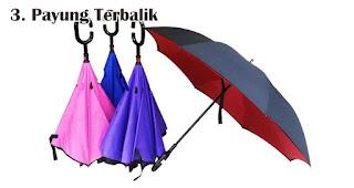Payung Terbalik merupakan salah satu ide hadiah yang tepat untuk petualang outdoor
