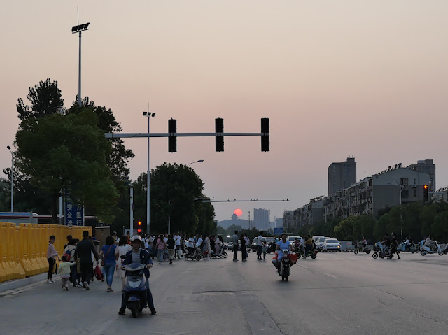 looking westward down Heping Avenue in Xuzhou