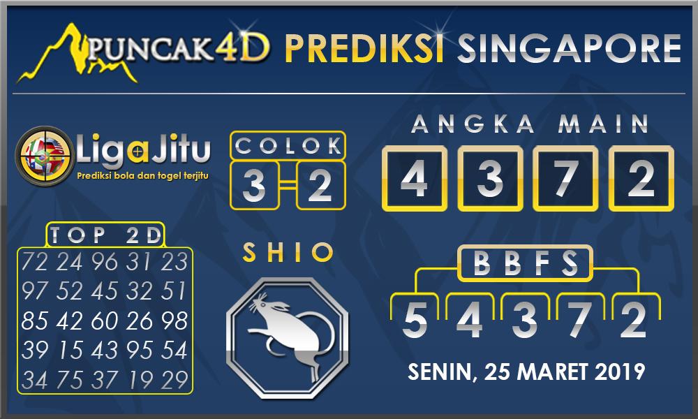 PREDIKSI TOGEL SINGAPORE PUNCAK4D 25 MARET 2019