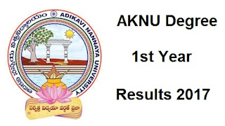 manabadi aknu degree 1st year results 2017