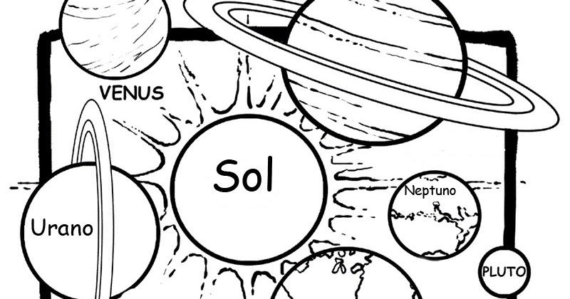 Dibujos Del Sol Para Colorear E Imprimir: Pinto Dibujos: Dibujo De Sistema Solar Para Colorear