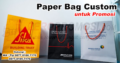 Paper Bag Shopping Bag, Tas Kertas Grosir, paperbag printing, Paper bag promosi custom logo printing full color, paperbag souvenir, Paper Bag Branding
