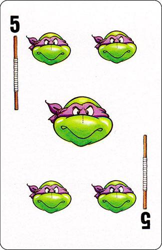 Baraja infantil Las Tortugas Ninja Fournier Carta Donatello 5
