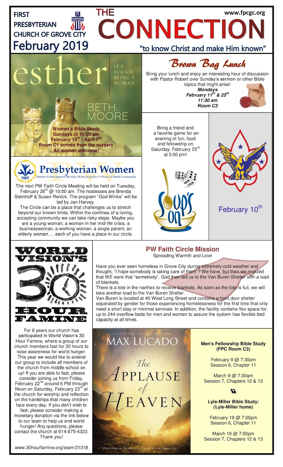 First Presbyterian Church of Grove City: Our Monthly Newsletter: The