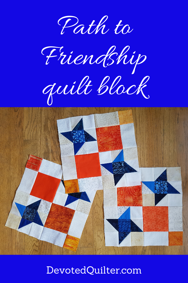 Path to Friendship quilt block tutorial | DevotedQuilter.com