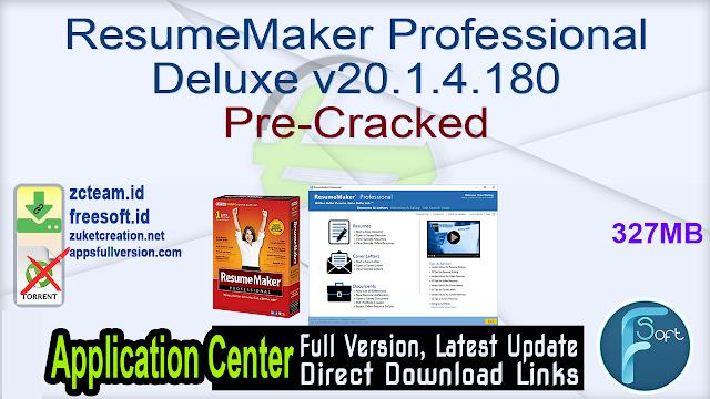 ResumeMaker Professional Deluxe v20.1.4.180 Pre-Cracked_ ZcTeam.id