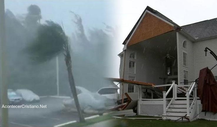 Tormenta destruye casa