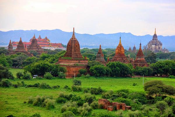 Vista de los templos de Bagan (Myanmar)