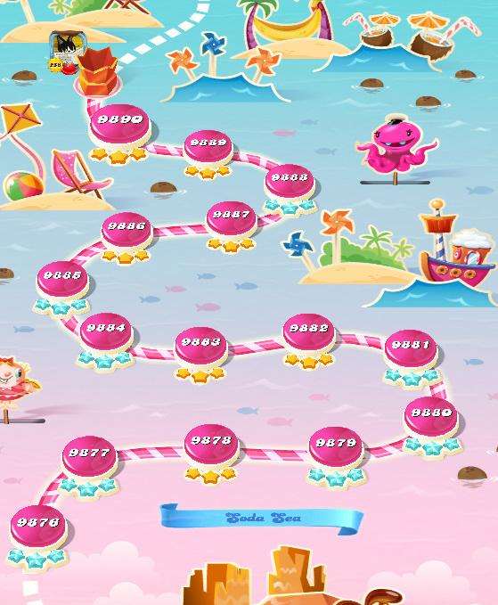 Candy Crush Saga level 9876-9890