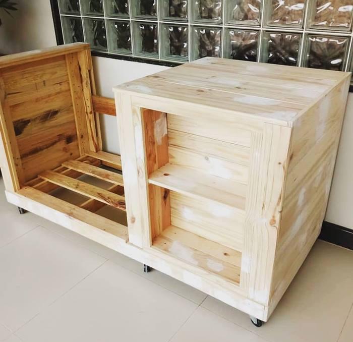 Mueble para cocina hecho con palets de madera reciclados ...