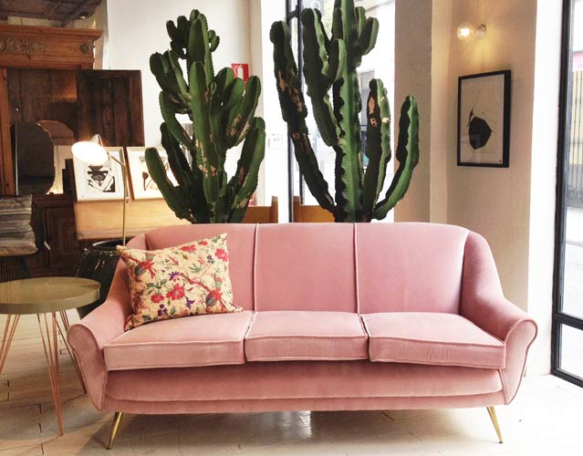 Sofa rosa. Mestizo Store