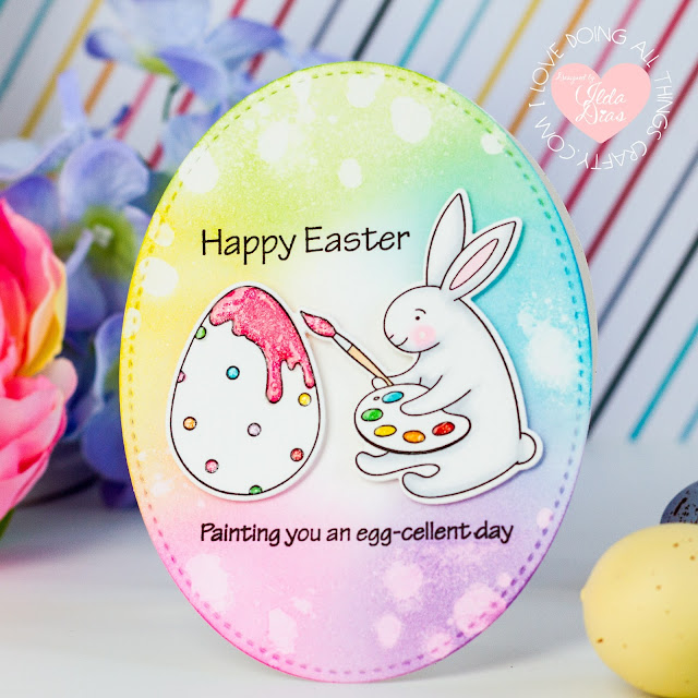 Rabbit Hole Designs, March 2021 Release, Blog Hop, Giveaways,Adventure Awaits, Spring Delivery,Interactive Swing Card,Clover Bunny, Easter Cards,St. Patricks Day,Card Making, Stamping, Die Cutting, handmade card, ilovedoingallthingscrafty, Stamps, how to