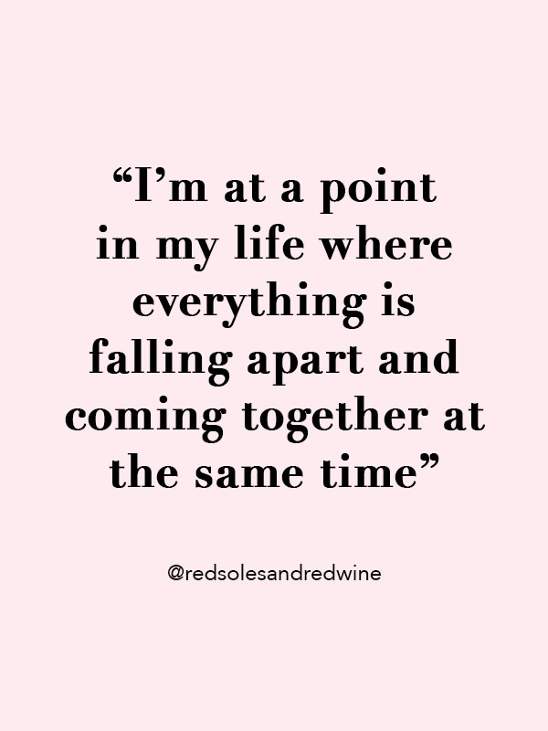Life coming together quote, Life Quote, Life Falling Apart Quote