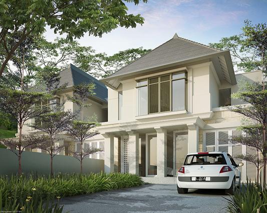 tampak depan rumah minimalis ukuran 10x20 meter 5 kamar tidur 2 lantai
