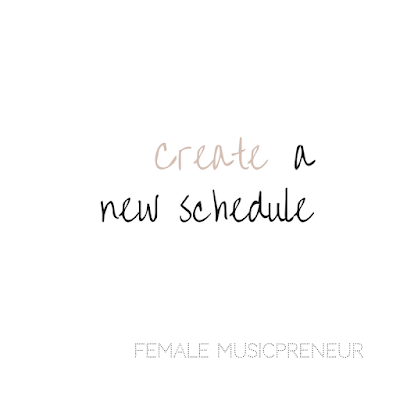Create a new schedule - Female Musicpreneur