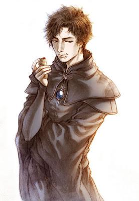 Ilustración de Clarence realizada por la ilustradora Lehanan Aida para la novela de fantasía Títeres de la Magia de G. Parente y Selene M. Pascua