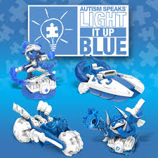Activision Lights It Up Blue With New Power Blue Skylander SuperChargers  For Autism Awareness Month