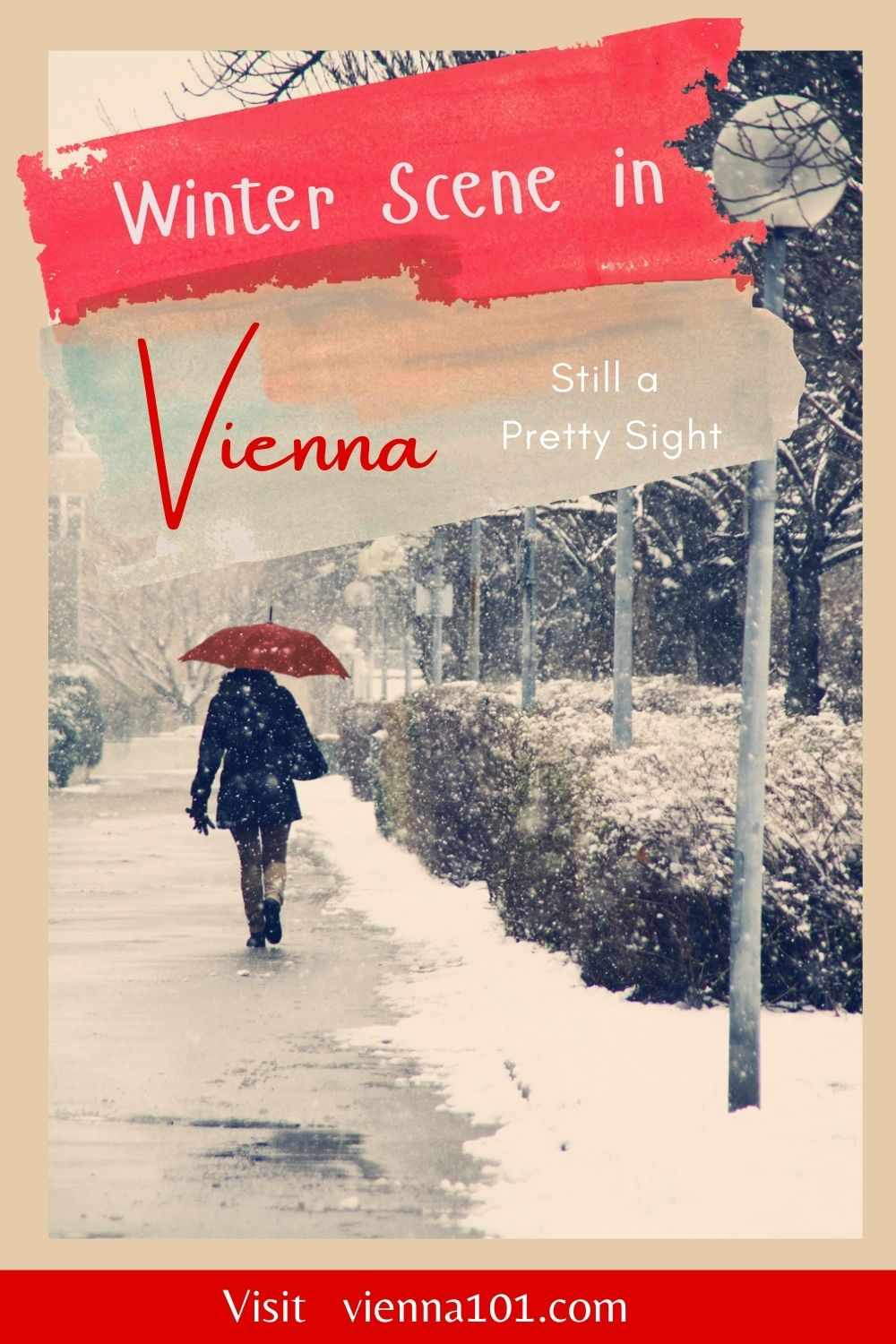 """Vienna Winter Scene, Still a Pretty Sight - """"Snow provokes responses that reach right back to childhood."""" -Andy Goldsworthy"""