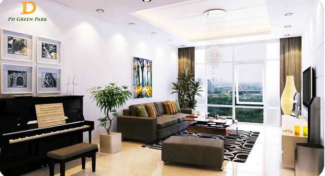 Phòng khách chung cư Pd Green Park