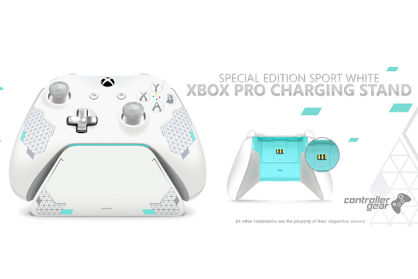 Controller Gear Sport White Special Edition Xbox Pro Charging Stand