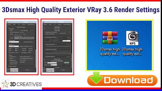 3ds max vray 3.6 render settings exterior