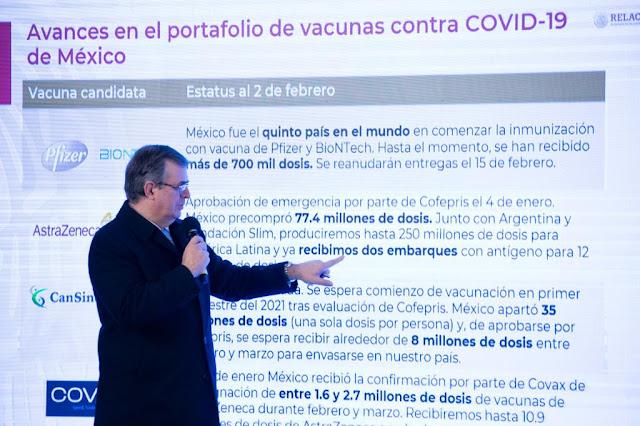 México cuenta con portafolio completo de vacunas para la población: Ebrard