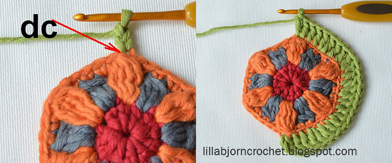 Block 9 from Circles of the Sun Mystery CAL (overlay crochet). Designed by LillaBjornCrochet