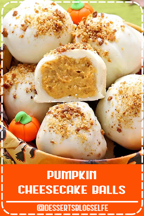 All the Best Fall Flavors in One Perfect Bite! Pumpkin and Cream Cheese combine with White Chocolate, Graham Crackers, and Gingersnaps for the Ultimate Fall dessert. #DessertsBlogSelfe #Best #Fall #FallDesserts