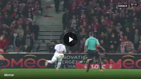 Video Lille 0 - 1 Marseille Ligue 1 Vòng 11