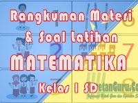 Materi dan Kumpulan Soal Matematika Kelas 1 SD Semester 1 Kurikulum 2013