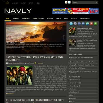 Navly blog template. magazine blogger template style. magazine style template blogspot