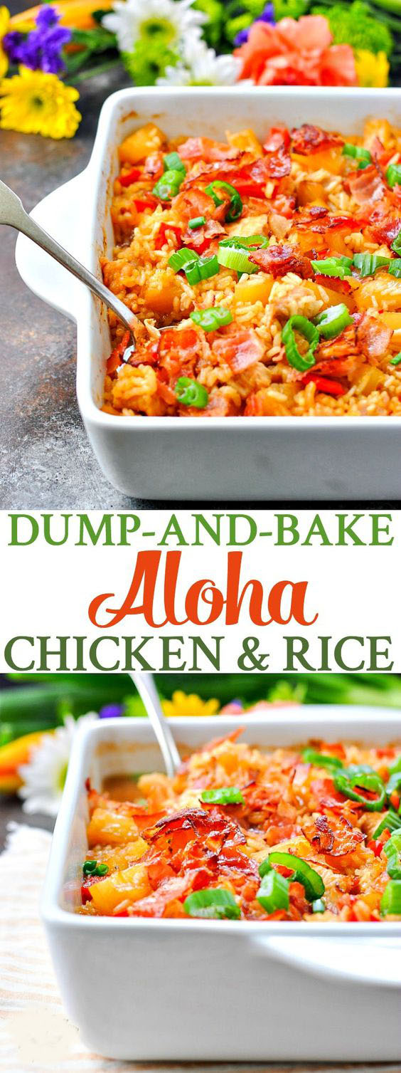 Dump And Bake Aloha Chicken And Rice