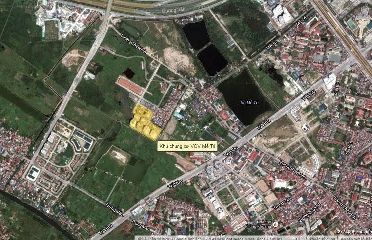Xem địa chỉ chung cư VOV Mễ Trì qua Google Map