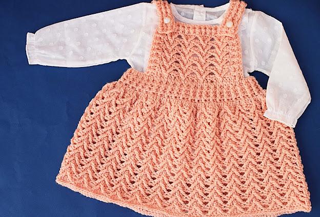 1 - Crochet Imagen Falda con peto a crochet y ganchillo por Majovel Crochet