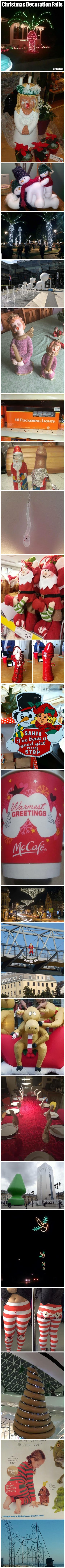 Funny Christmas Decoration Fails Picture Collection