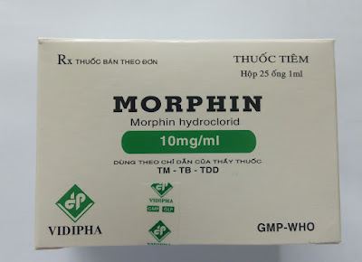 Thuốc tiêm morphin hydroclorid 10mg/ ml của Vidipha