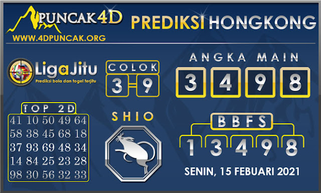 PREDIKSI TOGEL HONGKONG PUNCAK4D 15 FEBUARI 2021