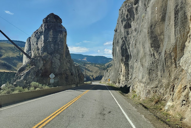 Trans Canada Highway The road cut through the rock